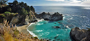 Julia Pfeiffer Burns State Park - The park's McWay Cove with McWay Falls