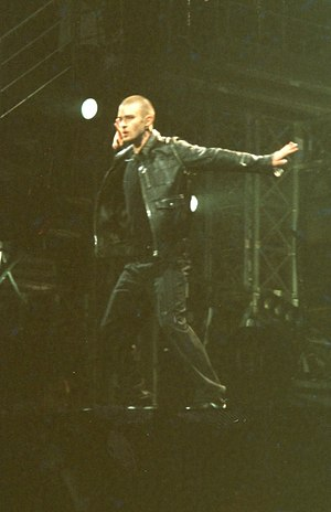 Justified (album) - Timberlake performing during The Justified World Tour at the Earls Court Exhibition Centre, August 2003