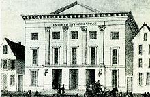 Das Kölner Theater an der Schmierstraße (um 1869), Kreutzers Wirkungsstätte 1840 bis 1842 (Quelle: Wikimedia)