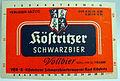 Köstritzer Schwarzbier Etikett VEB Köstritzer Schwarzbierbrauerei.jpg