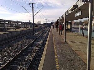 Køge station - Terminus tracks of the S-train line E