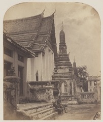 KITLV 4959 - Isidore van Kinsbergen - Part of the temple (What Prayunwongsawat) of Kralahoom of the Prime Minister of Siam in Bangkok - 1862-02.tif