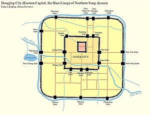 Kaifeng - The city of Kaifeng (Dongjing, Bianliang) in Northern Song Dynasty