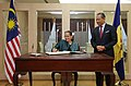 Kamala Lakhdir signed the guest book of Minister of Home Affairs Malaysia.jpg
