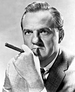 Black and white publicity photo of Karl Malden from the 1950's.