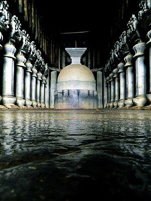 Mahāyāna Mahāparinirvāṇa Sūtra - Cave complex associated with the Mahāsāṃghika sect. Karla Caves, Mahārāṣtra, India