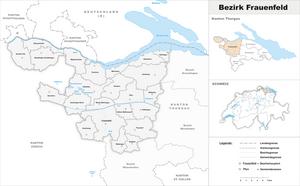 Frauenfeld District - Image: Karte Bezirk Frauenfeld 2011