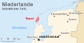Karte Nord Niederlande Texel Marked.png