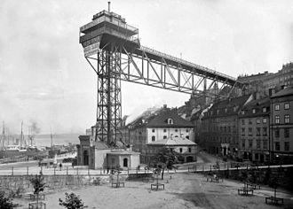 Katarina Elevator - Image: Katarinahissen 1896