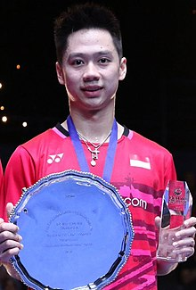 Kevin Sanjaya Sukamuljo won the 2017 All England Open.jpg