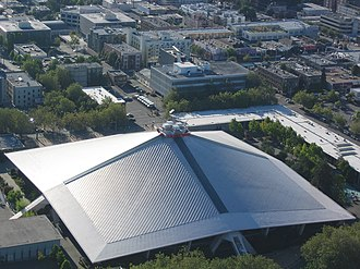 Paul Thiry (architect) - Aerial view of the KeyArena, built as the Washington State Pavilion