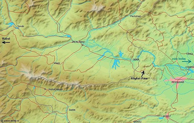 Location of the Khyber Pass