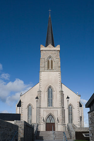 John Buonarotti Papworth - St Mary of the Visitation church in Killybegs, designed by Papworth in an early pointed Gothic Revival style between 1834 and 1839