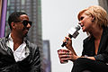 Kimberly Caldwell, Ryan Leslie at Yahoo Yodel 2.jpg