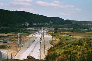 Kinding (Altmühltal) station - The station under construction in July 2004