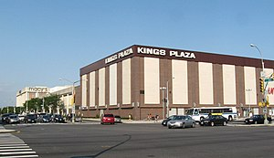 Kings Plaza - Kings Plaza, looking from the corner of Flatbush Avenue and Avenue U, as it appeared in 2008. Best Buy has since opened on the right of the picture, while renovations have changed the outer facade.