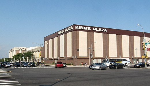 Located in Brooklyn NY Kings Plaza is shopping center including Macys Sears HampM Michael Kors Express Foot Locker and many more stores and restaurants