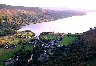 Kinloch Rannoch - Image: Kinloch Rannoch top view