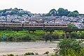 Kintetsu 2600 series 2719 Yamato River, Kashiwara 2017-09-20 (39072768585).jpg