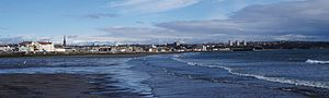 Kirkcaldy - View of Kirkcaldy Bay seen from the beach near Invertiel