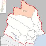Lage der Gemeinde Kiruna