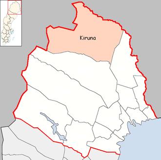 Kiruna Municipality - Image: Kiruna Municipality in Norrbotten County