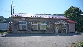 Kitakanegasawa Station Railway station in Fukaura, Aomori Prefecture, Japan
