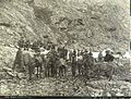 Klondikers resting at the Scales before ascending the summit of Chilkoot Pass, Alaska, 1897 (LAROCHE 302).jpeg