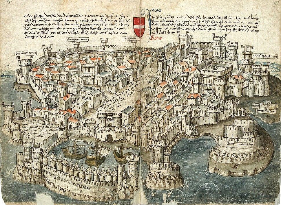 Konrad von Grünenberg - Beschreibung der Reise von Konstanz nach Jerusalem - Blatt 20v-21r