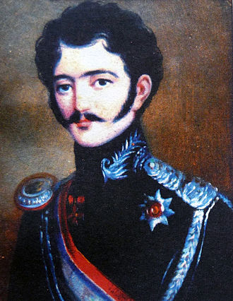 Prince Constantine of Imereti (1789–1844) - Prince Constantine of Imereti in military uniform, a painting from 1840s