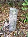 Kostelec nad Černými lesy, kamenný mezník v lese.jpg