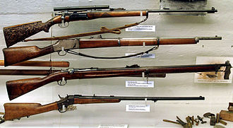 Norwegian Army - The Norwegian Krag–Jørgensen repeating bolt action rifle.