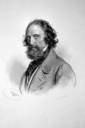 Josef Kriehuber - Self-portrait of Josef Kriehuber, Lithography, 1860