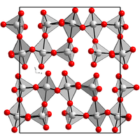 Kristallstruktur von Rhenium(VII)-oxid