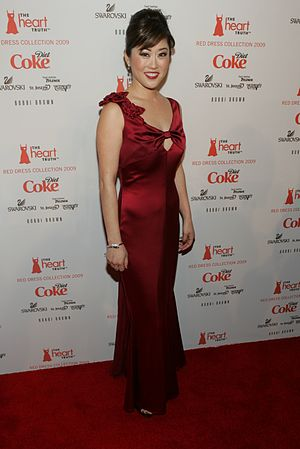 Kristi Yamaguchi backstage at The Heart Truth'...