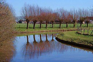 Kromme Rijn watercourse in the netherlands