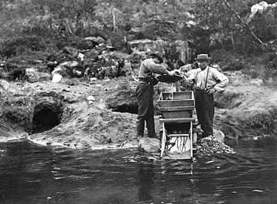 Guldvaskning vid Ivalo, 1898