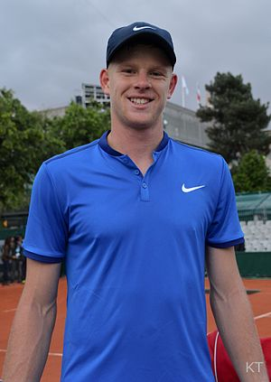 Kyle Edmund - Edmund at the 2016 French Open
