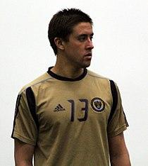 Kyle Nakazawa at Preseason Training for the Philadelphia Union, Jan 2011.jpg