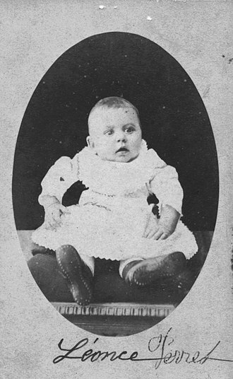 Léonce Perret - Perret as a baby