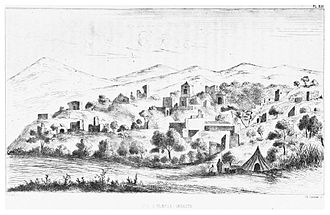Elaiussa Sebaste - Ruins and Turkish village (1860)