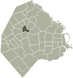 Location of La Paternal within Buenos Aires