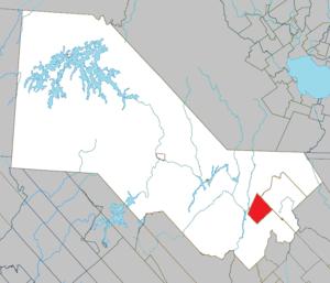 La Bostonnais, Quebec - Image: La Bostonnais Quebec location diagram