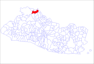 Location of the municipality of La Palma in El Salvador