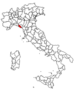 Location of Province of La Spezia