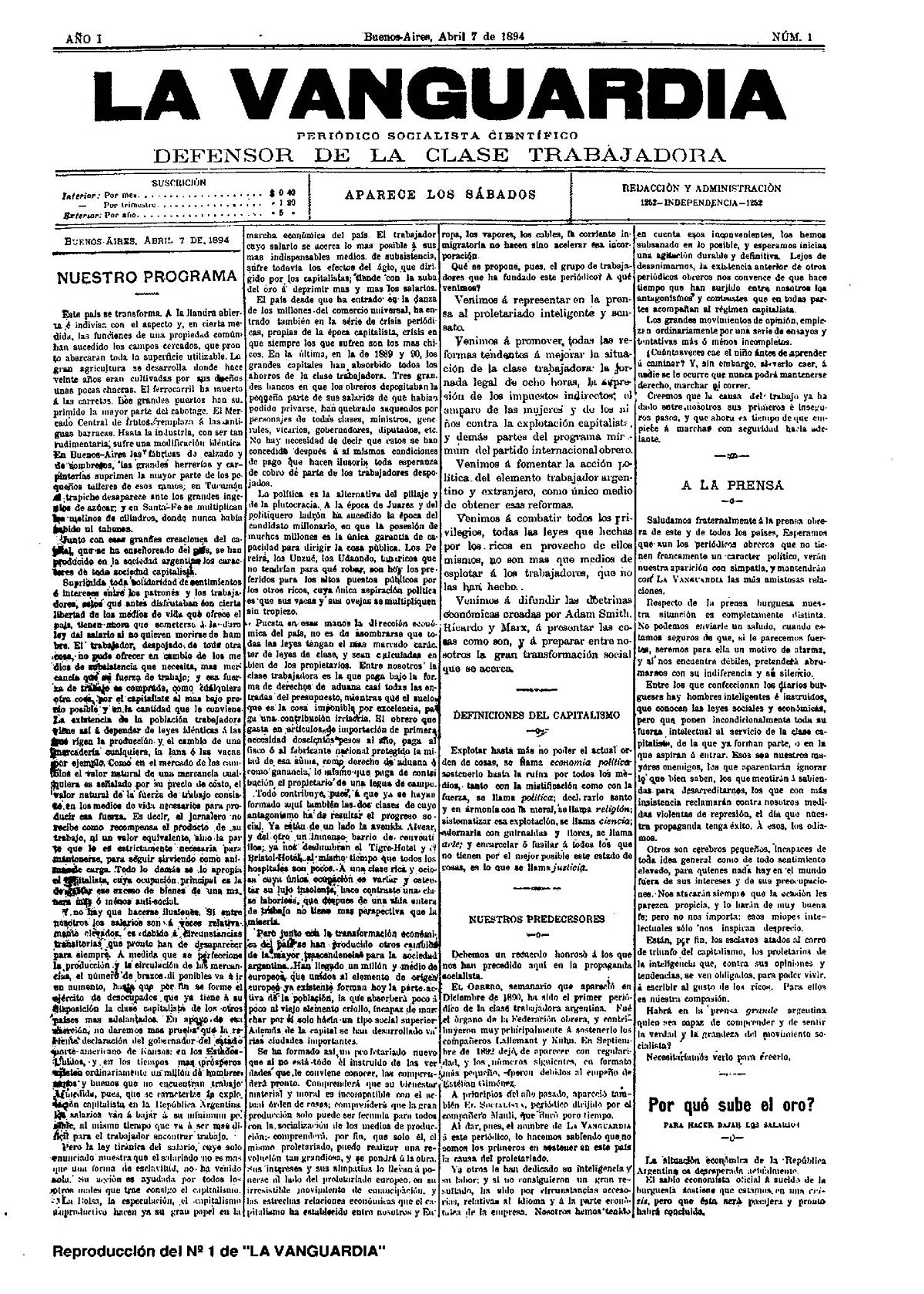 La vanguardia peri dico de argentina wikipedia la for Paginas de chimentos argentina