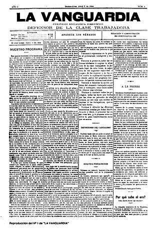 La Vanguardia (Argentina) - First issue of La Vanguardia