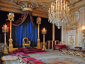 Throne room - The throne room at the Palace of Fontainebleau, France.