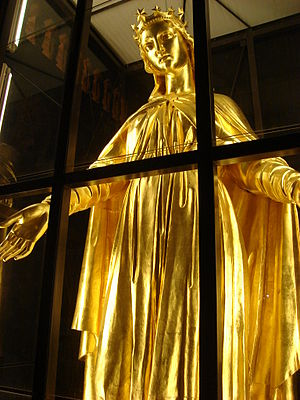 Fourvière - The Golden Virgin, in the Basilica of Fourvière