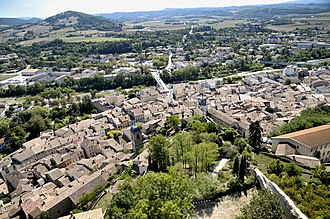 Crest, Drôme - The town seen from the tower